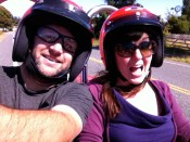 Moped. Friday Island, San Juan Islands, Washington