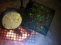 Curry over the Fire. Sacred Fire Camp Grill was the hook up!