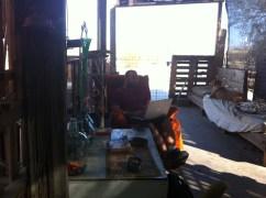 Internet Cafe, Powered by Solar, Slab City