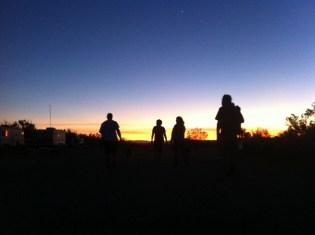 Walking at sunset, Slab City