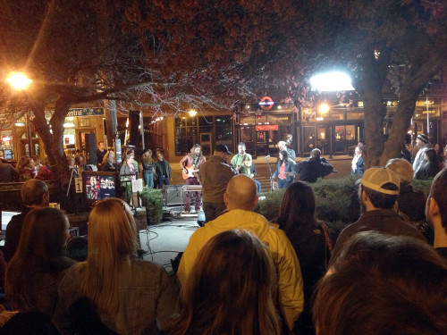 Filming a live music video on the streets of Knoxville.