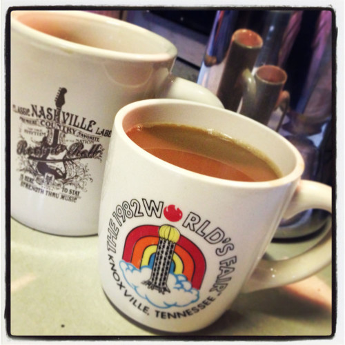 Our Southern souvenirs- and favorite morning ritual- COFFEE!