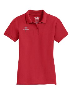 Disc Golf Polo for women Red