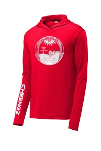 Church of the holy rollers hooded dry fit long sleeve t-shirt disc golf clothing apparel