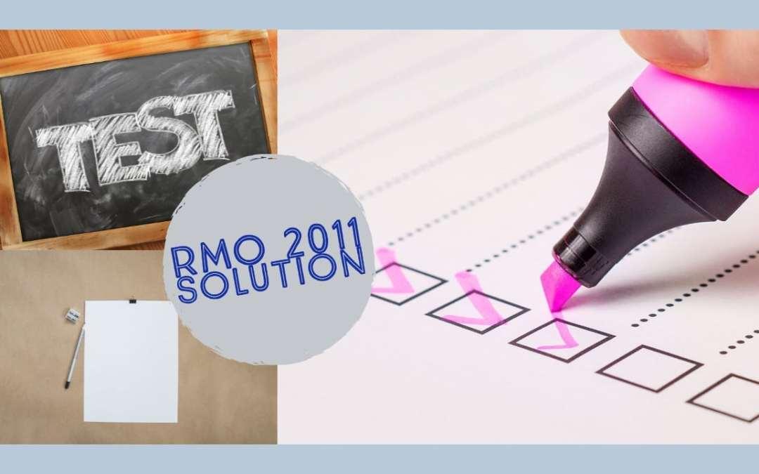 RMO 2011 SOLUTIONS