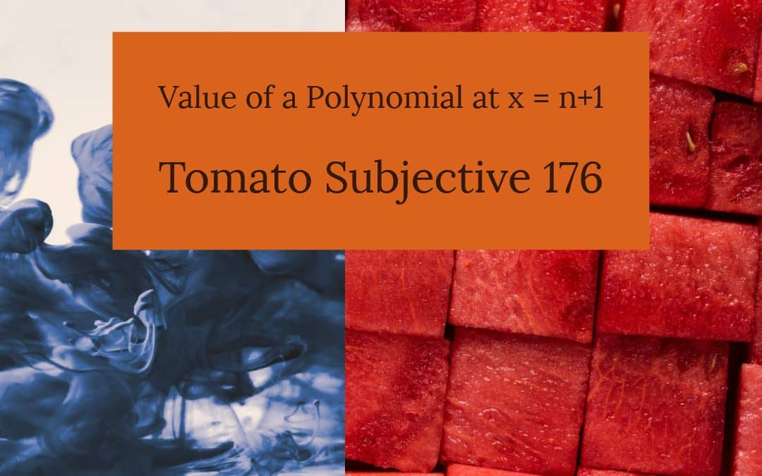 Test of Mathematics Solution Subjective 176 – Value of a Polynomial at x = n+1