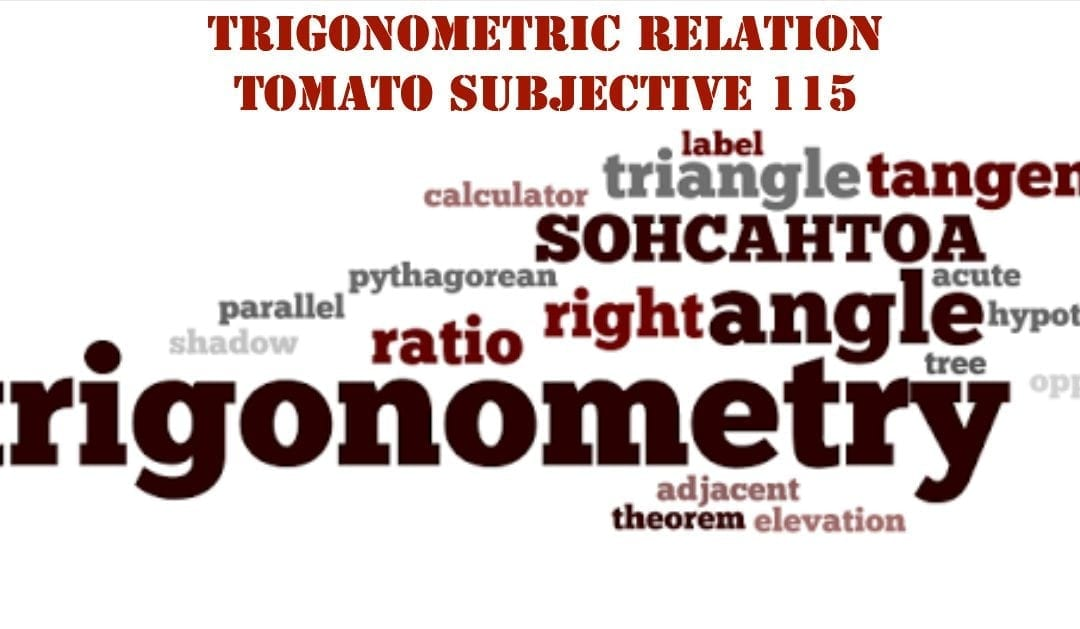 Test of Mathematics Solution Subjective 115 – Trigonometric Relation