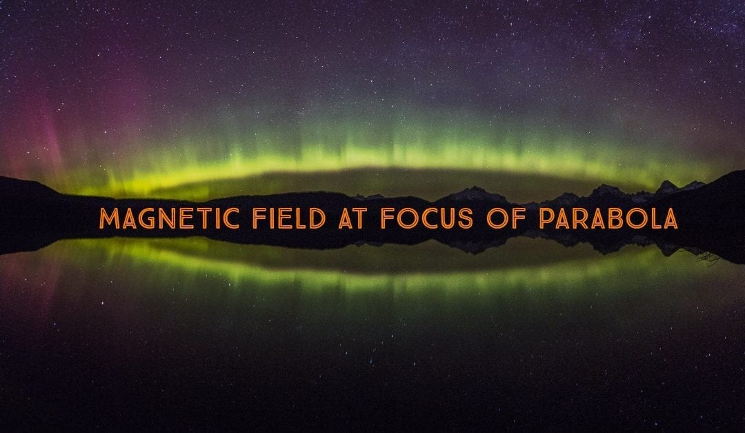 Magnetic Field at Focus of Parabola