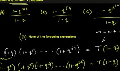 Algebraic Identity (TOMATO Objective 16)