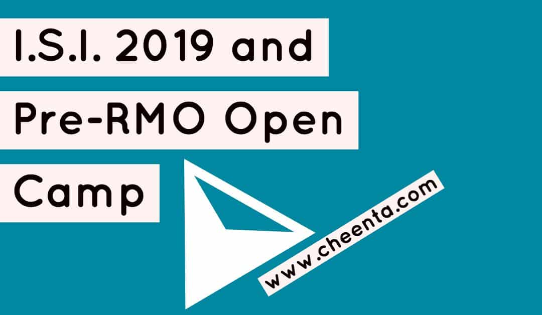 PreRMO and I.S.I. Entrance Open Seminar