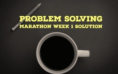 Problem Solving Marathon Week1 Solution