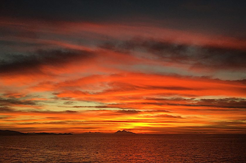 Unfiltered, dramatic Sunset in Komodo. It's like this every single day!