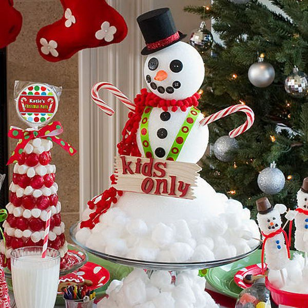 Awesome DIY Snowman Crafts Snowman Centerpiece from Cotton and Styrofoam