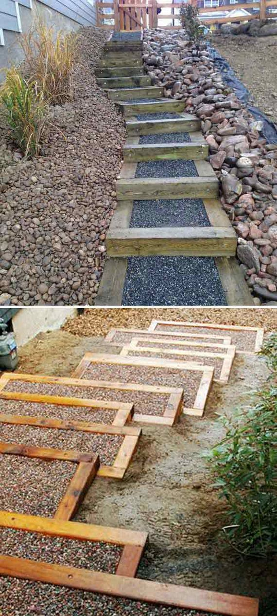Awesome DIY Ideas to Make Garden Stairs and Steps on Backyard Patio Steps  id=28211
