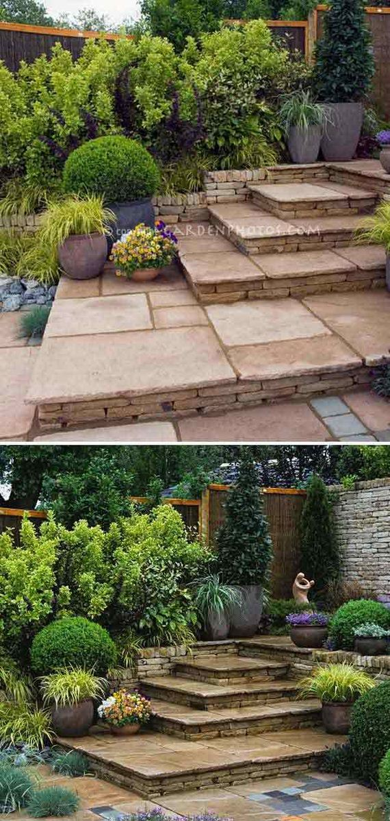 Awesome DIY Ideas to Make Garden Stairs and Steps on Backyard Patio Steps  id=81690