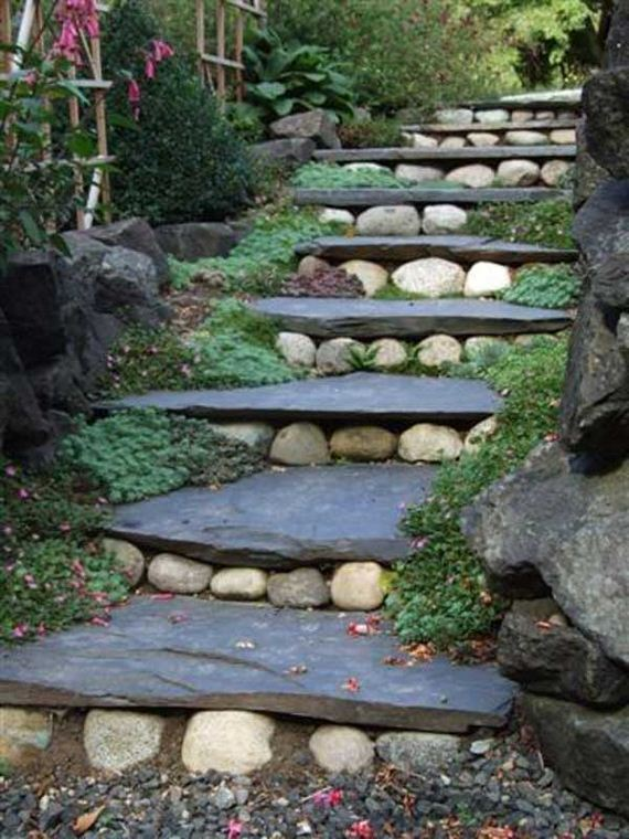 Awesome DIY Ideas to Make Garden Stairs and Steps on Backyard Stairs Ideas id=67269