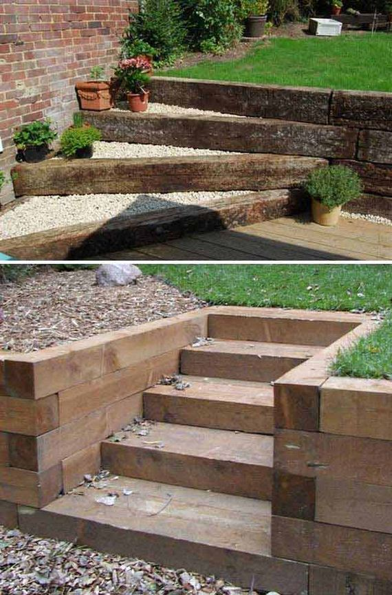 Awesome DIY Ideas to Make Garden Stairs and Steps on Backyard Stairs Design id=24765