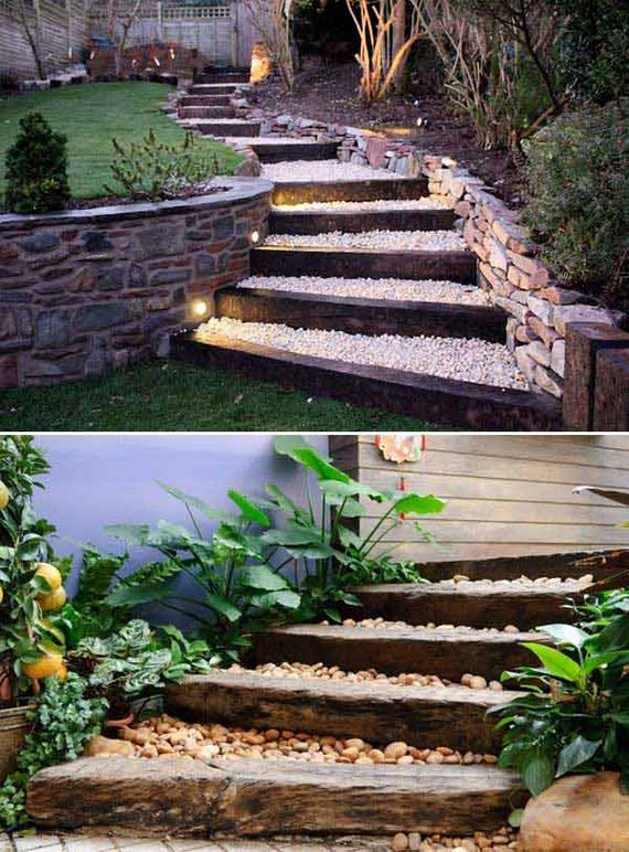 Awesome DIY Ideas to Make Garden Stairs and Steps on Backyard Patio Steps id=95544