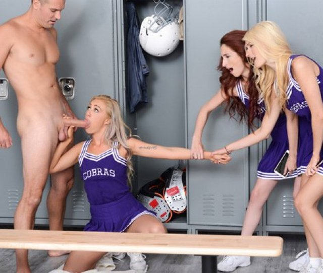 Lyra Law Has Been Dared By Her Fellow College Cheerleaders To Sneak Into The Guys Locker Room After The Big Game And Pull Down The Last Players Towel As He