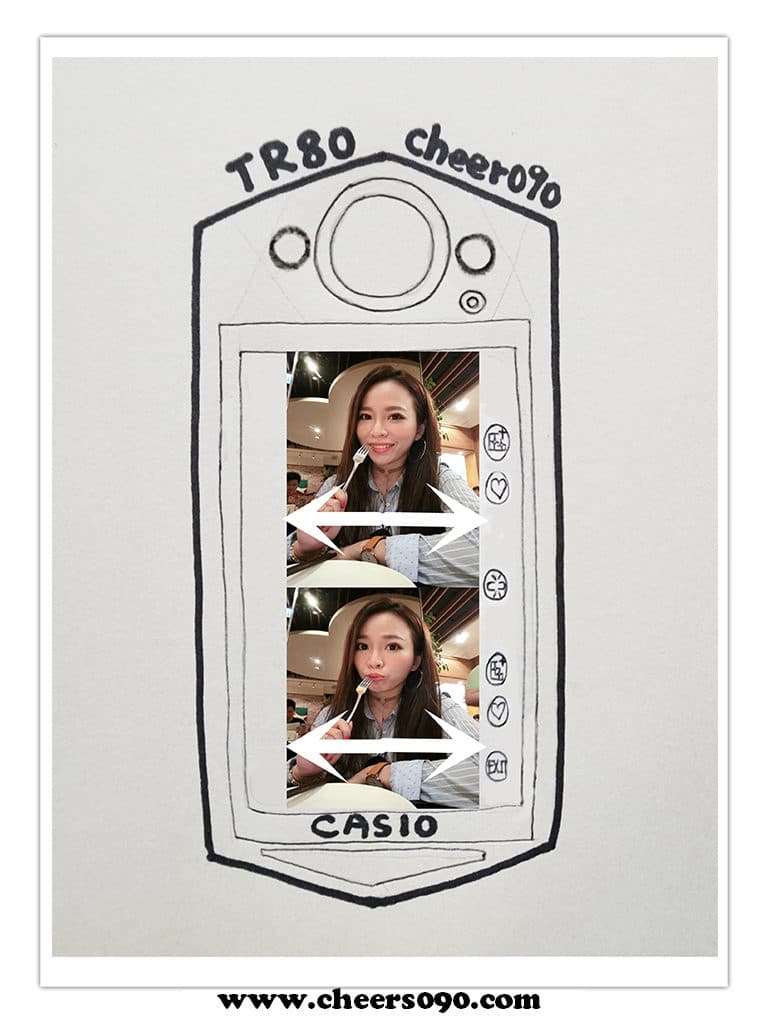 TR80 自拍神器 日本製 CASIO 手繪圖