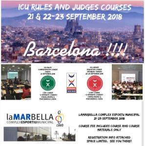 ICU Rules & Judges Course @ Lamarbella Complex Esportiu Municipal (Barcelona, Spain)