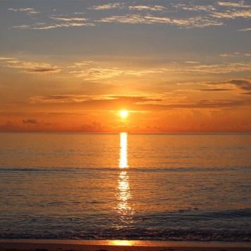 Sonnenaufgang in Miami und Ausgangshafen der Carnival Victory