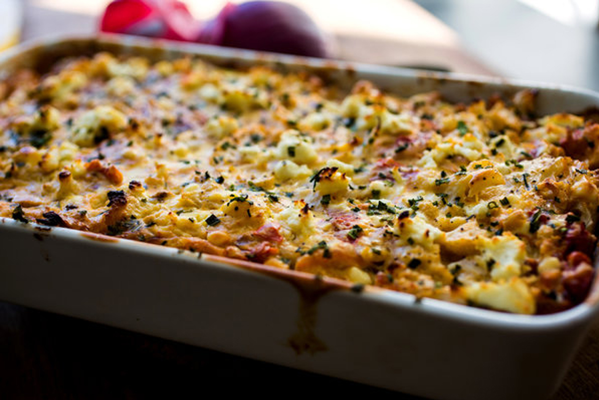Holiday Hosting | Chef & Shower Recipes | Cheesy Baked Cauliflower Gratin