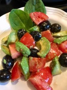 Avocado, tomato & Olive Salad