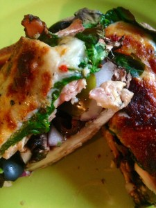 Stuffed Mushroom with Chicken & Spinach