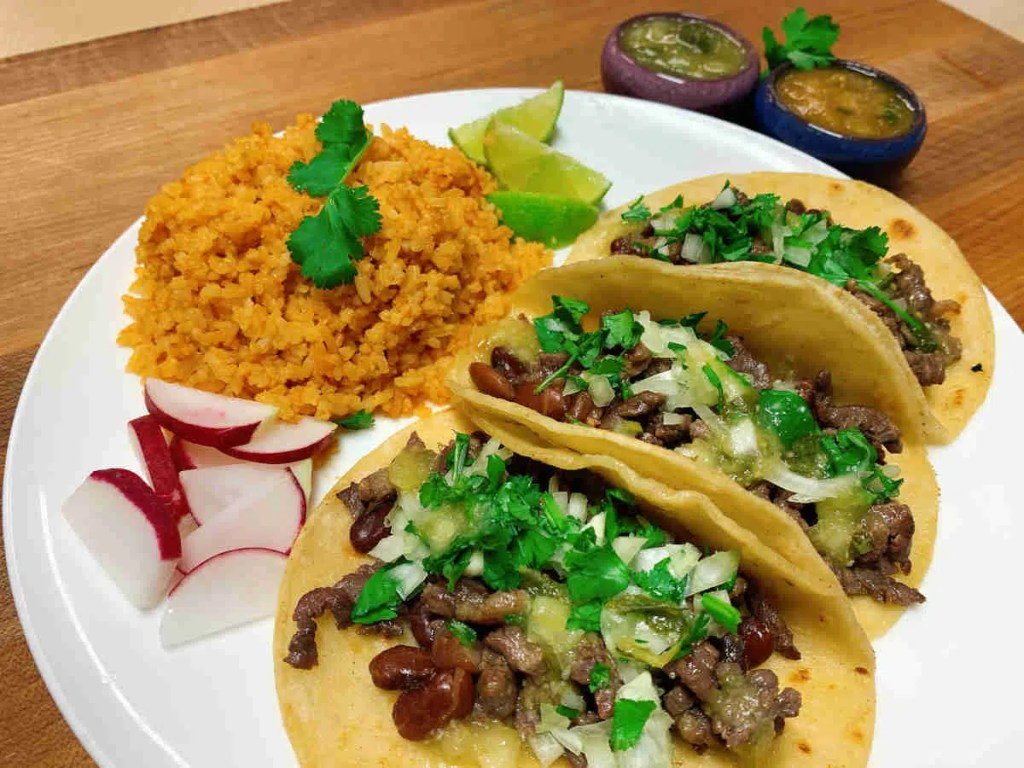 Tacos with Rice