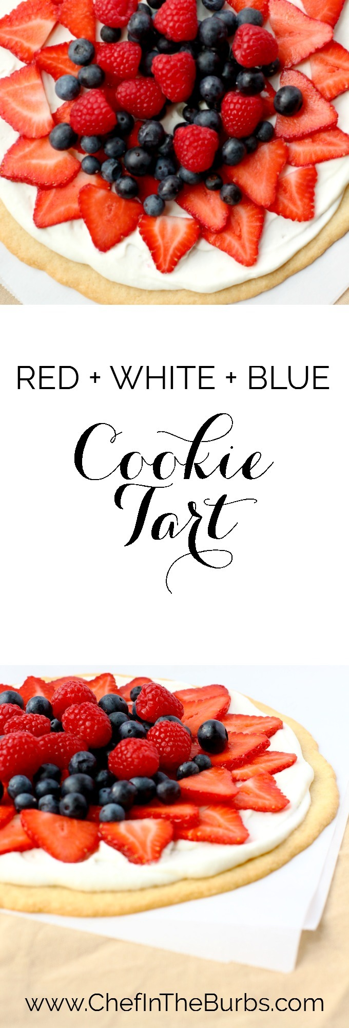 This RED + WHITE + BLUE : Berry Tart is a super fast and delish summer dessert that adults and kids love.