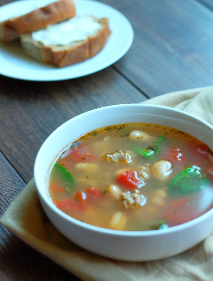 Fresh and light, French Turkey Soup with Beans and Greens is delicately flavored with herbes de Provence. It's perfect to counteract those holiday indulgences.