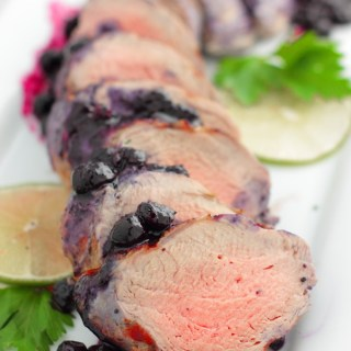 Grilled Pork Tenderloin with Blueberry Sauce