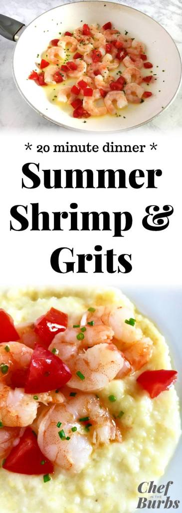 Summer Shrimp and Grits - Farm fresh tomatoes turn this Southern classic into a tasty, fast and summery weeknight dinner.