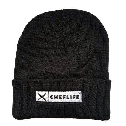 chef life logo beanie black