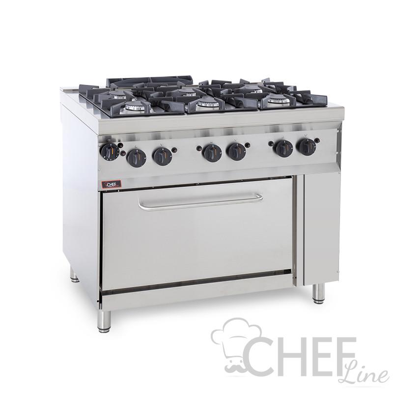 Cucina Professionale A Gas 6 Fuochi Forno A Gas Profondità 70 Cm Prezzi Shock