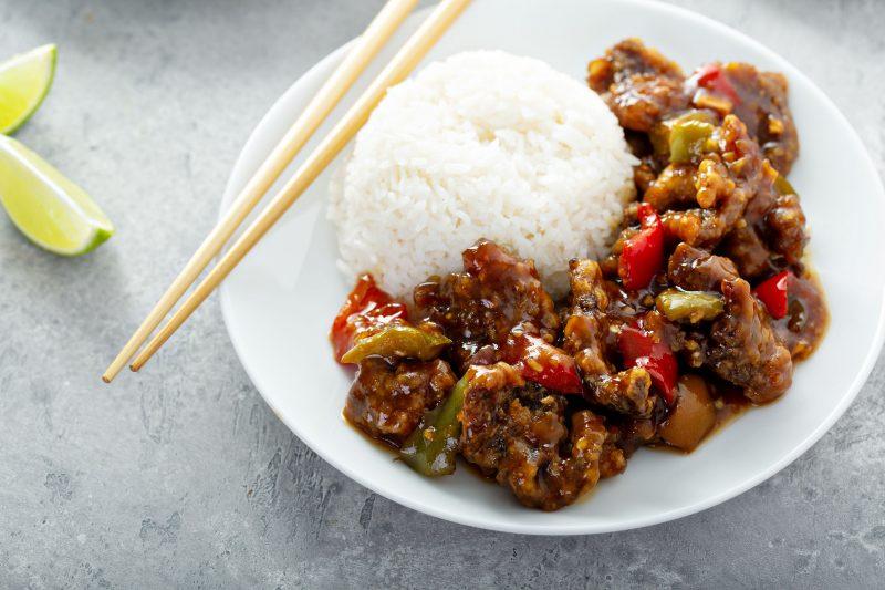 Asya tarzında domuz eti güveç