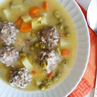 Meatballs with Egg and Lemon Sauce
