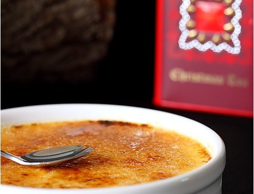 Crème brûlée au Christmas Tea