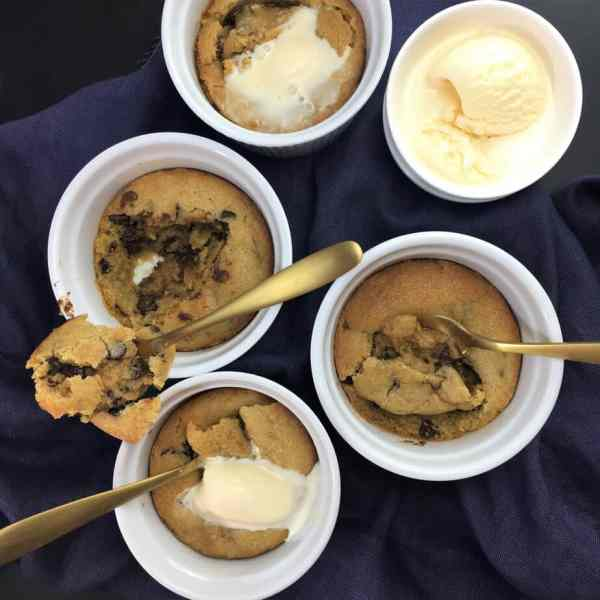 Half Baked Cookie Dough Pots - the ulimate comfort food dessert