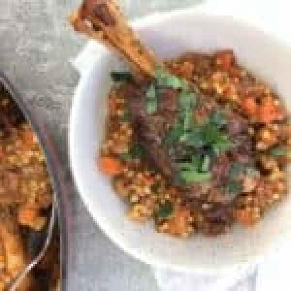 Braised lamb shanks with fennel & giant couscous - one pot, fall off the bone tender lamb