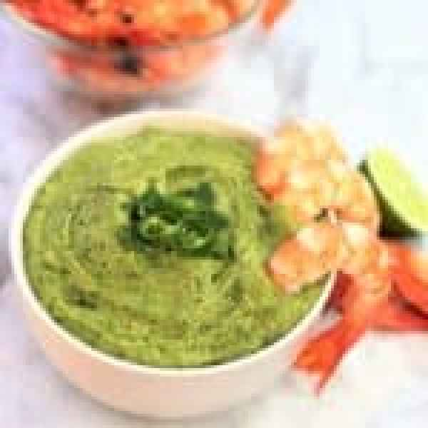 Avocado cilantro (coriander) dip - done in 10 mins