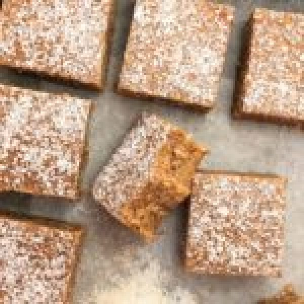 peanut butter caramel slice - no bake, melt & mix