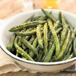lemon beans - green beans simple side dish