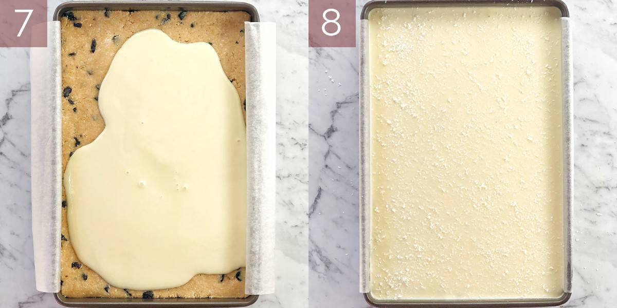 images showing process of making lemon slice recipe