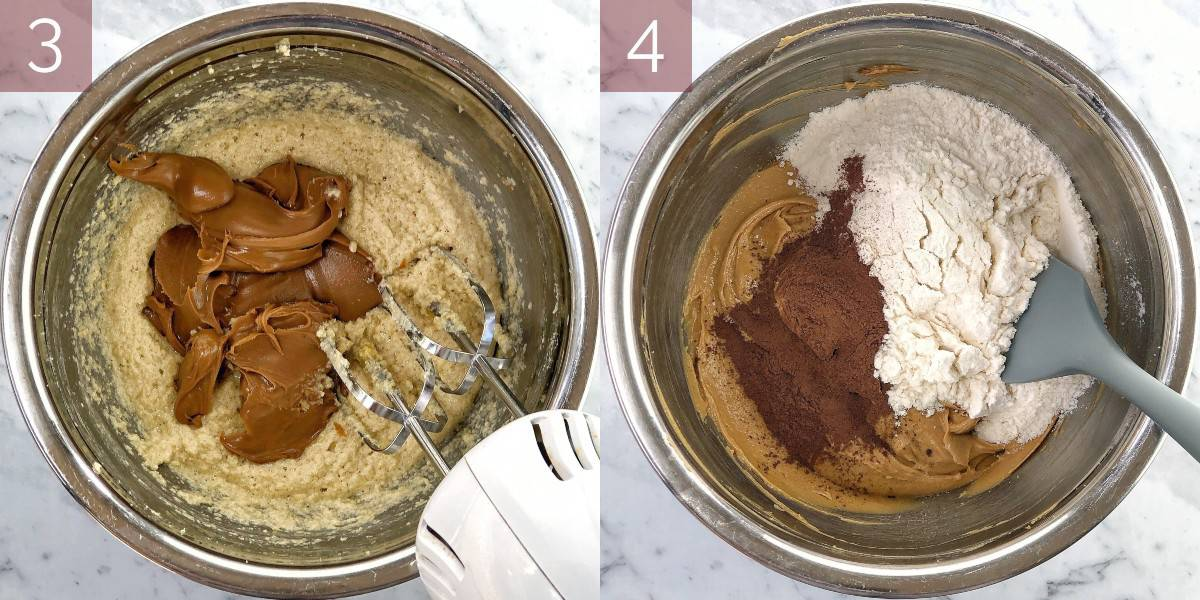 process shots showing how to make brownies