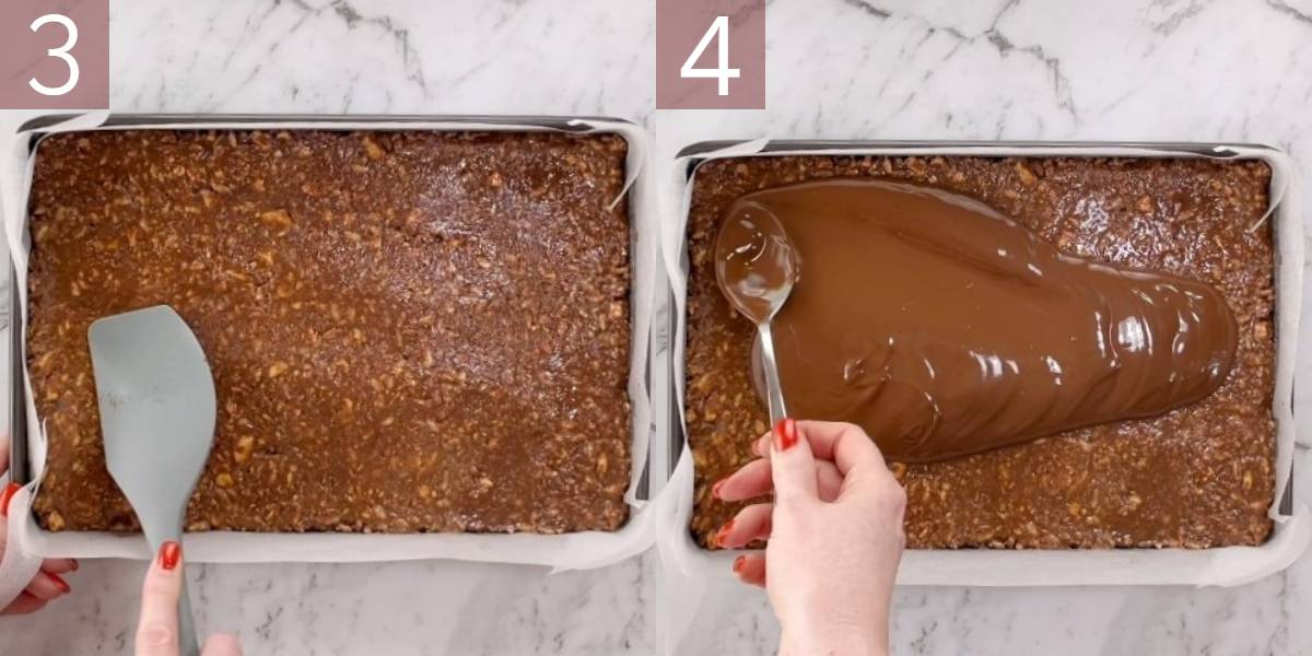 photographs showing process of making this recipe