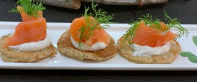 Pancakes di patate con salmone affumicato