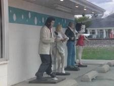 Characters at the Polka Dot