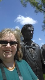 Me and Abe Lincoln in Pontiac, IL